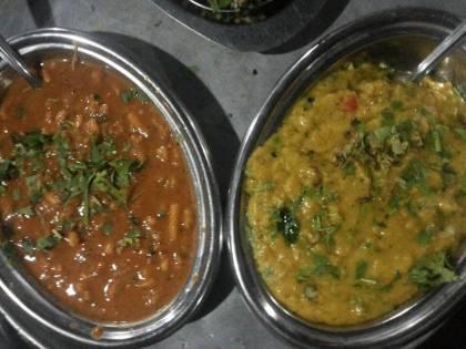 Hari Om Dhaba - Sev-bhaji and Pithla