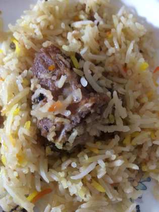 Delicious Mutton Biryani at Hotel Marathwada, Pune