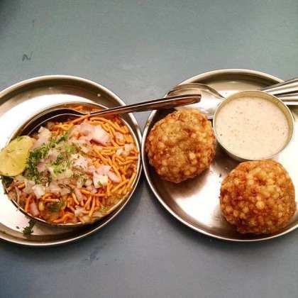 Awesome Sabudana Vada and Misal at Prakash Restaurant